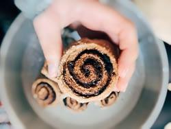 Cinnamon Rolls close up