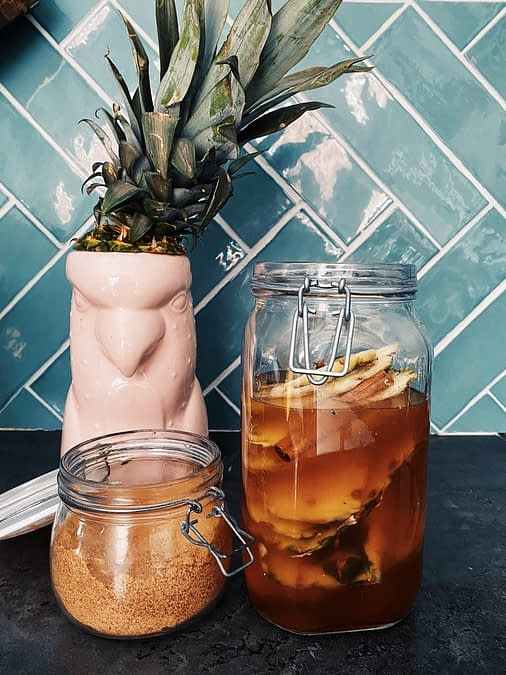 Tepache recipe – A refreshing drink made with pineapple peels.