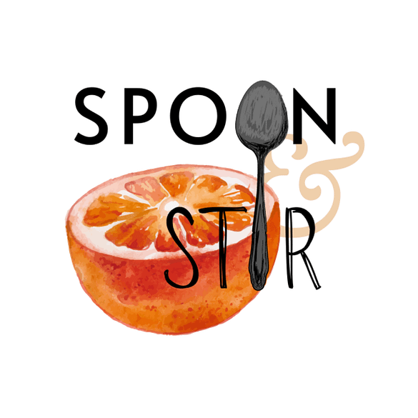 Spoon stir logo wit